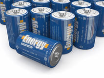 Baterías de la energía Imagen de archivo libre de regalías