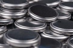 Baterías de los botones de la pila Fotografía de archivo libre de regalías