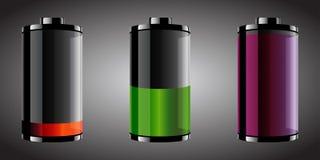 Baterías de mirada brillantes ilustración del vector