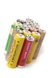 Baterías del AA Foto de archivo