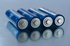 Baterías del AA Foto de archivo libre de regalías