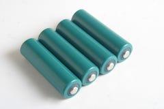 Baterías del AA imagen de archivo libre de regalías