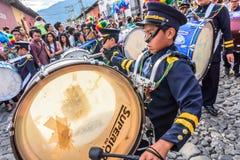 Baterías del Día de la Independencia, Antigua, Guatemala Imagen de archivo libre de regalías