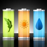 Baterías del vector de elementos stock de ilustración