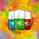 Baterías eléctricas eficientes stock de ilustración