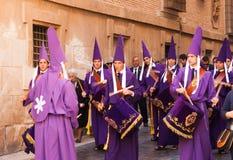 Baterías en Semana Papá Noel en Murcia Foto de archivo