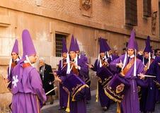 Baterías en Semana Papá Noel en Murcia Imágenes de archivo libres de regalías