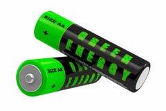 Baterías - energía verde Imagenes de archivo
