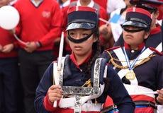 Baterías guatemaltecos de la banda escolar imagenes de archivo