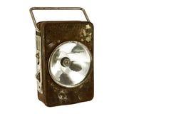 Baterías oxidadas de la lámpara fotografía de archivo