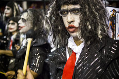Baterías que se realizan en el carnaval el Brasil Fotografía de archivo libre de regalías