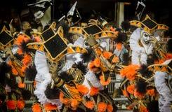 Baterías que se realizan en el carnaval el Brasil Foto de archivo libre de regalías