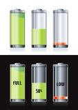 Baterías recargables ilustración del vector