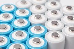Baterías recargables del AA Imagenes de archivo