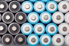 Baterías recargables del AA Imágenes de archivo libres de regalías