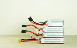 Baterías recargables del nuevo polímero de litio Imagen de archivo libre de regalías