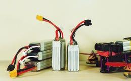 Baterías recargables y abejón del nuevo polímero de litio Foto de archivo libre de regalías