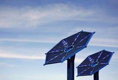 Baterías solares Imágenes de archivo libres de regalías