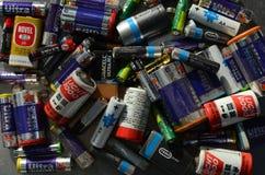 Baterías usadas Imágenes de archivo libres de regalías