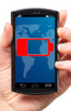 Batería baja Imagen de archivo libre de regalías