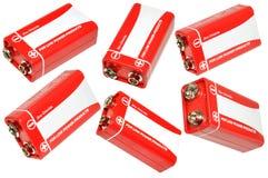 Batería de nueve voltios Foto de archivo