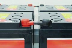 Baterías de emergencia para una potencia ininterrumpida Imágenes de archivo libres de regalías