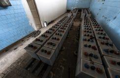 Baterías del sistema de alimentación ininterrumpida Imagen de archivo libre de regalías