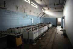 Baterías del sistema de alimentación ininterrumpida Fotografía de archivo libre de regalías
