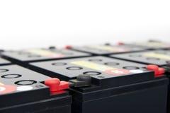 Baterías para la fuente de alimentación continuo Foto de archivo libre de regalías