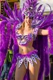 Bateria的女王/王后在巴西狂欢节的 免版税库存图片
