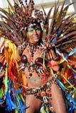 Bateria的女王/王后在巴西狂欢节的 库存照片