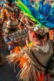 Bateria, музыкальный раздел школы самбы в Рио-де-Жанейро Carnaval стоковое фото