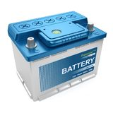 Bateria automotivo isolada Fotos de Stock