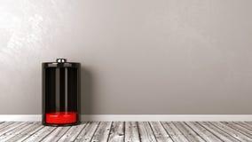 Bateria baixa no assoalho de madeira Imagem de Stock Royalty Free