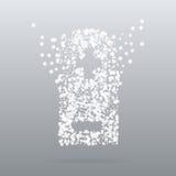 Bateria criativa do ícone do ponto Imagens de Stock