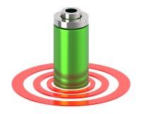 bateria 3d em um anel circular ilustração do vetor