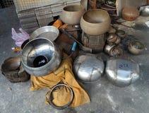 Bateria da proibição, monge Bowl Village, Banguecoque, Tailândia Imagem de Stock Royalty Free