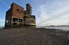 Bateria da torre da grão Foto de Stock Royalty Free