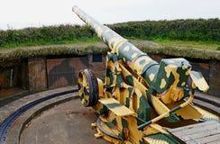 Bateria de arma WW2 alemão, Guernsey Fotos de Stock Royalty Free