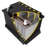 Bateria de carro (desenho de conjunto) Imagens de Stock Royalty Free