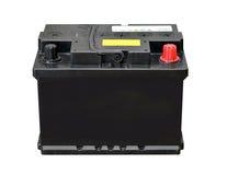 Bateria de carro isolada no branco Imagens de Stock Royalty Free