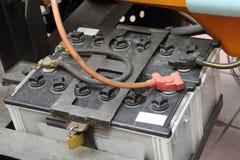 Bateria de carro velha imagens de stock