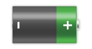 Bateria de D Fotografia de Stock Royalty Free