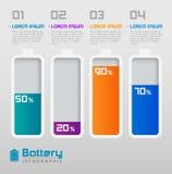Bateria de Digitas com elemento dos Informação-gráficos da porcentagem Ilustração Stock