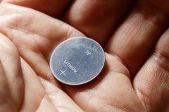 Bateria de prata da pilha do botão Fotografia de Stock
