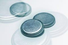 Bateria de prata da pilha do botão Fotografia de Stock Royalty Free