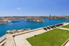 A bateria de saudação, Barracca superior, Malta Foto de Stock Royalty Free