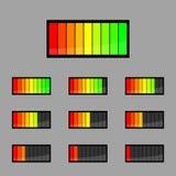 Bateria dos ícones Imagem de Stock Royalty Free
