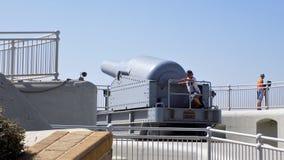Bateria em Gibraltar Foto de Stock