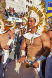 Bateria the musical section in the Brazilian Carnaval parade Royalty Free Stock Photo